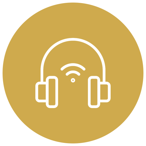 Wireless Headphones icon - Belmont Dentistry